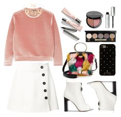 """QUEEN"" by shanelala ❤ liked on Polyvore featuring Maje, Misha Nonoo, Calvin Klein, Milly, Kate Spade, Bobbi Brown Cosmetics and Shay"