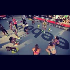 Every competitor cheering on the last one to finish. This is what makes CrossFit great.