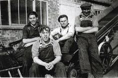 Foundry workers at W. Cooks of Yaxley, from left to right; Clive Robinson, Jack Beeby, Bernard Stacey and Rob King.