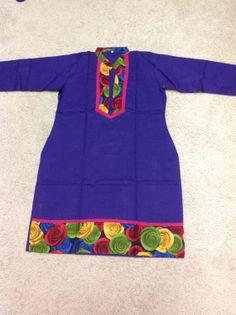 Womens Top tunic dress Shirt Blouse kurti Bollywood by Artsiart, $17.99