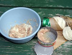 Tuna and biscuit for catfish