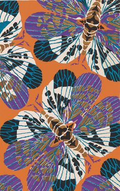 Eugène Séguy: Insectes (1925)   Illustrations by French entomologist Eugène Séguy, from a book detailing his illustrations of insects and colourful decorative compositions of their patterns and colouring   He was one of the foremost French designers at the beginning of the 20th century. Working in both the Art Deco and Art Nouveau styles, he published many design folios utilizing the pochoir technique, a printing process that employs a series of stencils to lay dense and vivid color