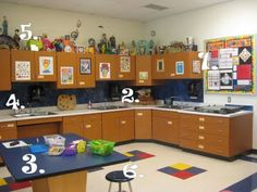 amazingly well-organized art room- great tips and ideas here.