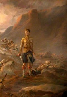 'Stand Fast Craigellachie' by Lady Butler. On display at the National War Museum Edinburgh. This painting depicts an incident involving the 2nd Battalion Seaforth Highlanders on the North West frontier of India in 1895.