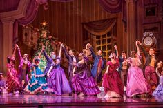 The guests dance in the Joffrey Ballet's Nutcracker, Act 1. Photo by Cheryl Mann