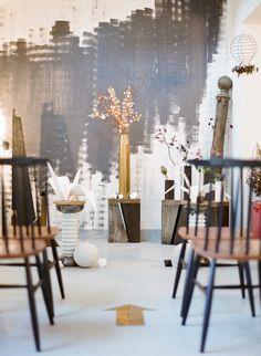 Urban Chic Wedding Ceremony Ideas:A Loft Wedding -  http://www.StyleMePretty.com/2014/03/20/parisian-industrial-loft-wedding-inspiration/ Photography: Greg Finck on #SMP