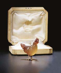 by Faberg', circa 1890 Russian, St. Art Nouveau, Faberge Jewelry, Russian Art, Russian Style, Gold Models, Art Carved, Animal Jewelry, Bird Jewelry, Art Object
