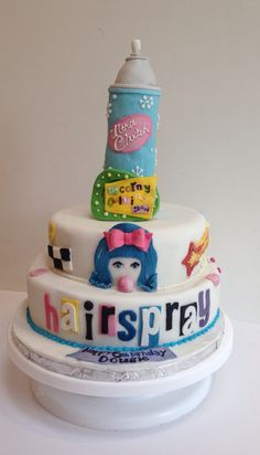 Hairspray cake
