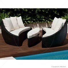 Encore Outdoor Wicker Day Bed - Black - Buy Wicker Daybed & Day Bed - Milan Direct