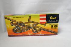 Vintage Revell B-25 Mitchell Giant Bomber Model Kit Mint In Box Unassembled WWII Bombler by KansasKardsStudio on Etsy