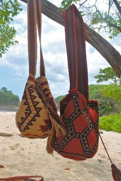 Earthy Colored Wayuu Mochilas