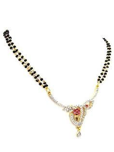 Arras Creations Designer Traditional Imitation CZ Stone Mangalsutra for Women / (Clear) Fashion Accessories, Fashion Jewelry, Traditional Fashion, Elegant Outfit, Indian Jewelry, Tassel Necklace, Plating, Creations, Stone