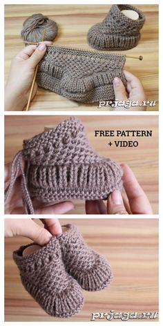 Knit Warm Baby Booties Free Knitting Pattern + Video - Knitting Pattern