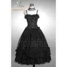 Longue Robe Noire Avec Corset Et Mousseline Élégante Gothique