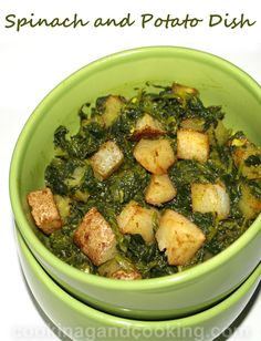 Spinach and Potato Dish recipe is a quick and healthy veggie recipe that can be served as a side dish or as an appetizer. Even if you are not a huge fan of spinach, you will love this spinach dish recipe.