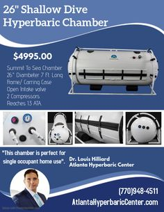 Shallow Dive Hyperbaric Chamber - This Atlanta Hyperbaric Chamber is perfect is the smallest and most affordable chamber on the market. Shallow, Be Perfect, Diving, Atlanta, Sea, Marketing, Children, Amazing, Young Children