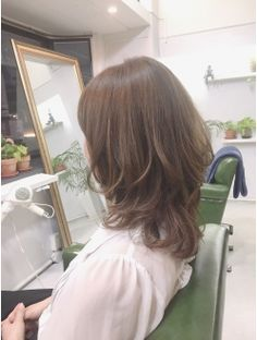 Medium Hair Cuts, Medium Hair Styles, Long Hair Styles, Bob Lung, Long Bob With Bangs, Japanese Hairstyle, Asian Hair, Long Layered Hair, Layered Haircuts