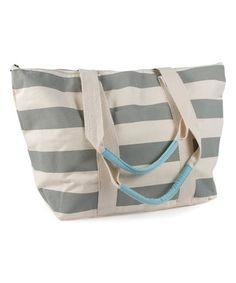 Look what I found on  zulily! Rugby Stripe Classic Tote  zulilyfinds Canvas  Duffle d83df816f615f