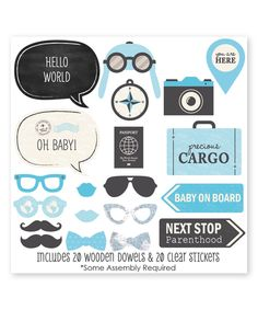 Loving this Blue 'Precious Cargo' Photo Booth Props Kit - 20-Piece Set on #zulily! #zulilyfinds