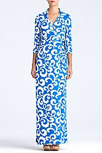 Color Block Dress - Silk Dresses - Designer Evening Dresses by DVF