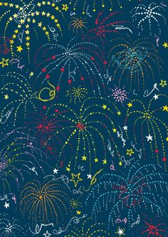 FREE printable New Year Scrapbook paper - fireworks
