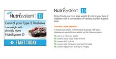 The diet for people with Type 2 Diabetes. The simple diabetic diet meal plan is dietitian approved and lets you control your calorie and carbohydrate intake to promote. http://www.infomercials-tv.com/diabetic_diet_nutrisystem/?utm_content=buffer6b819&utm_medium=social&utm_source=pinterest.com&utm_campaign=buffer #nutrisystemd #diet