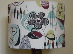 Modern Vintage Handmade Do Wop 30cm Drum Lampshade via Etsy