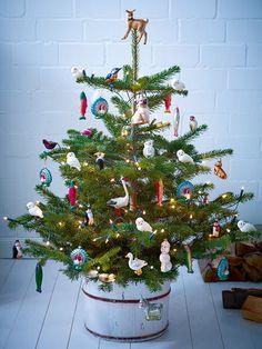 Weihnachtsbaum mit Tieren