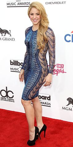 2014 Billboard Music Awards Red Carpet Fashions - Shakira from #InStyle