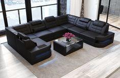 75 Günstig Fotografie Von sofa U form Leder - Sofas & Couches Designer Large Sectional Sofa, Leather Sectional Sofas, Large Sofa, Sofa Set, Corner Sofa Design, Sofa Bed Design, Living Room Sofa Design, Couch U Form, U Couch