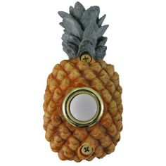 Waterwood Hardware Pineapple Cover Doorbell Button Pineapple Cover Doorbell ButtonFirst Impressions are everything, and now you can offer your Wire Installation, Installation Instructions, Doorbell Cover, Pineapple Painting, Doorbell Button, Pineapple Clothes, Doorbell Chime, Address Plaque, Lowes Home Improvements
