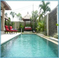 Seminyak Villa Olive is another fine example of quality villas here on Bali  Located at the heart of Seminyak close by spas, restaurants, bars, boutiques and of course sunny beaches.  The Villa accommodation is stylish and elegant.  The living areas are open and airy here you will find a well equipped kitchen, a dining area and of course an area to relax and read or watch TV as you will have over 50 channels via satellite.  The villa has wifi access.