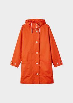 TOAST | dreamy orange raincoat!