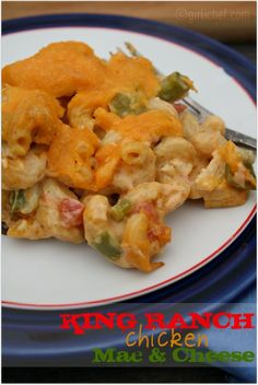 King Ranch Chicken Macaroni and Cheese
