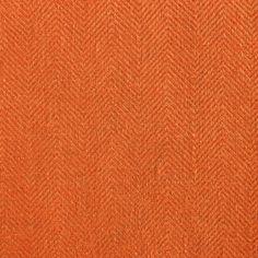 ANICHINI Fabrics | Nobel Linen Herringbone Burnt Orange Residential Fabric - an orange herringbone linen fabric