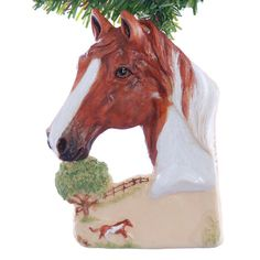 Personalized Christmas ornament  chestnut paint by Christmaskeeper, $14.95