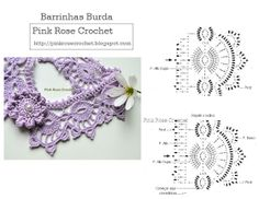 Crochet collar chart pattern