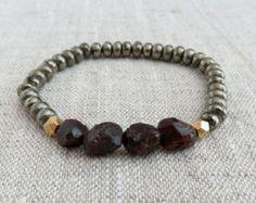 Joyas de piedras preciosas pulsera de por ContrastCollection