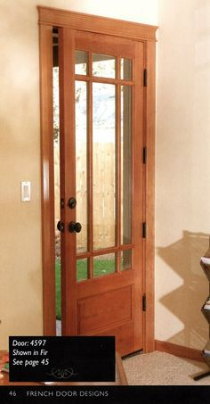 The Exterior Doors We Chose For Our Log Home craftsman style bathroom -Frost the glass for bathroom Exterior Doors With Glass, Exterior Front Doors, Exterior Cladding, Front Entry, Entry Doors, Craftsman Style Bathrooms, Craftsman Style Doors, Log Homes Exterior, Exterior House Colors