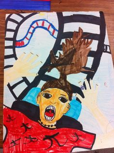 Drip, Drip, Splatter Splash- roller coaster portraits