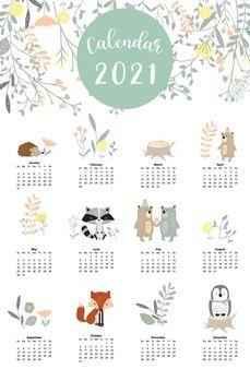 Calendar Layout, Cute Calendar, Kids Calendar, 2021 Calendar, Blank Calendar, Calendar Design Template, Printable Calendar Template, Free Printable, Journal Stickers