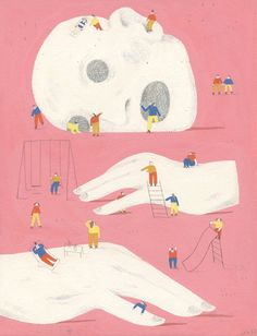 Lily Snowden-Fine's lovingly layered illustrations.