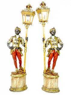 19th century Venetian blackamoor torcheres