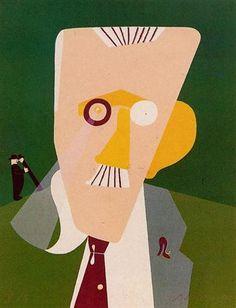 Portrait de James Joyce by Eduardo Arroyo, 1992