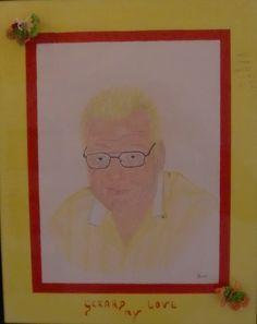 portret color pencils