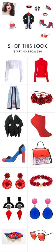 """FlowerJapan"" by sebastians ❤ liked on Polyvore featuring Calvin Klein 205W39NYC, Temperley London, Yohji Yamamoto, Ozone, Braccialini, Mignonne Gavigan, Bourbon and Boweties, Toolally and Carousel Jewels"