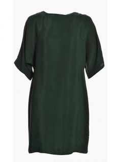 2785855adfbafa Young British Designers  Raby Sandwash Silk Tunic Dress in Emerald Green by Mercy  Delta -