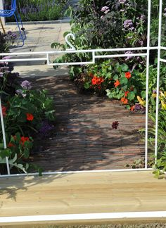 old roof tiles make a recycled path a detailed shot of garden two in the