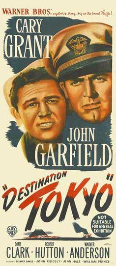 1943 movie posters Belgian | Destination Tokyo - 13 x 30 Movie Poster - Australian Style A