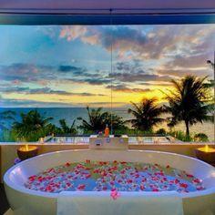 Bathtub at beach house